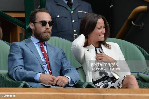 Pippa and James Middleton in the Royal Box on Centre Court