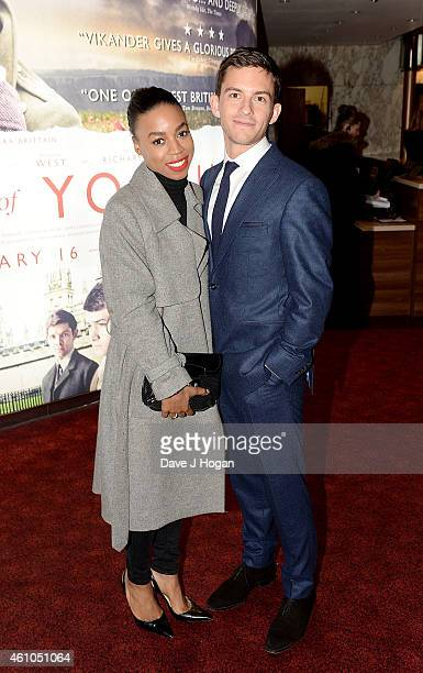 Pippa BennettWarner and Jonathan Bailey attend the Testament Of Youth UK Premiere at Empire Leicester Square on January 5 2015 in London England