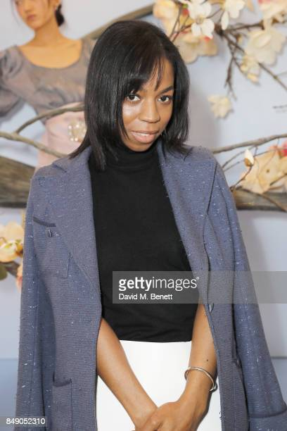 Pippa BennettWarner attends the Sophia Webster SS18 Presentation at The Portico Rooms Somerset House on September 18 2017 in London England
