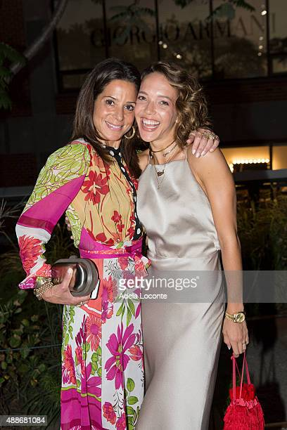 Pippa Cohen and Zoe Buckman attend the Anual Fundraising Event at Diller von Furstenberg Sundeck on September 16 2015 in New York City