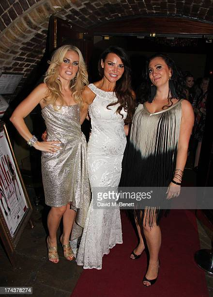 Pippa FultonLizzie Cundy and Alyssa Kyria at the press night performance of 'WAG The Musical' at Charing Cross Theatre on July 24 2013 in London...