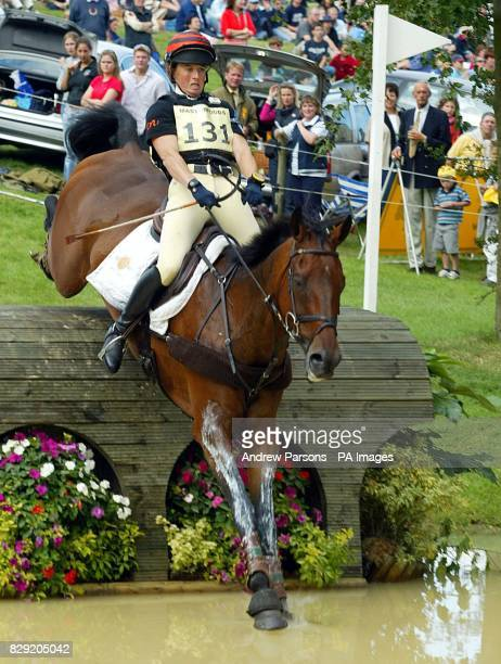 Pippa Funnell on Primmore's Pride at the Lower Trout Hatchery during the Burghley Horse Trials Cross Country Event in Cambridgeshire