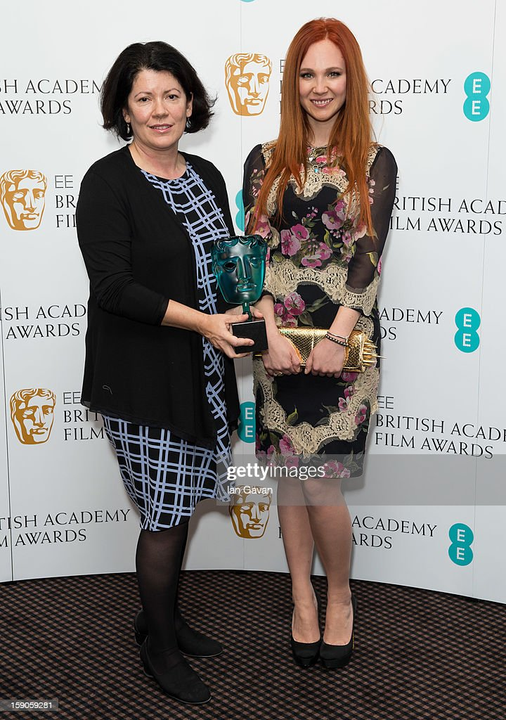 Pippa Harris and <a gi-track='captionPersonalityLinkClicked' href=/galleries/search?phrase=Juno+Temple&family=editorial&specificpeople=4692912 ng-click='$event.stopPropagation()'>Juno Temple</a> attend a photocall to announce the nominations for the EE Rising Star Award at BAFTA headquarters on January 7, 2013 in London, England.