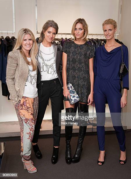 Pippa Holt and Sarah Harris from Vogue Anja Rubik and Jacquetta Wheeler attend the Gucci Bond Street store as part of 'Fashion's Night Out' on...