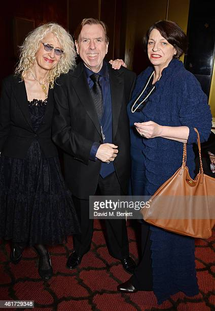 Pippa Markham Timothy Spall and Shane Spall attend The London Critics' Circle Film Awards at The Mayfair Hotel on January 18 2015 in London England