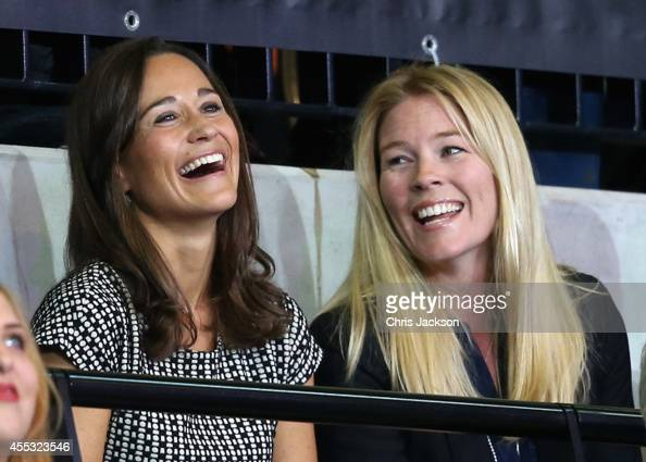 Pippa Middleton and Autumn Phillips watch the wheelchair rugby at the copperbox at Queen Elizabeth park on September 12 2014 in London England The...