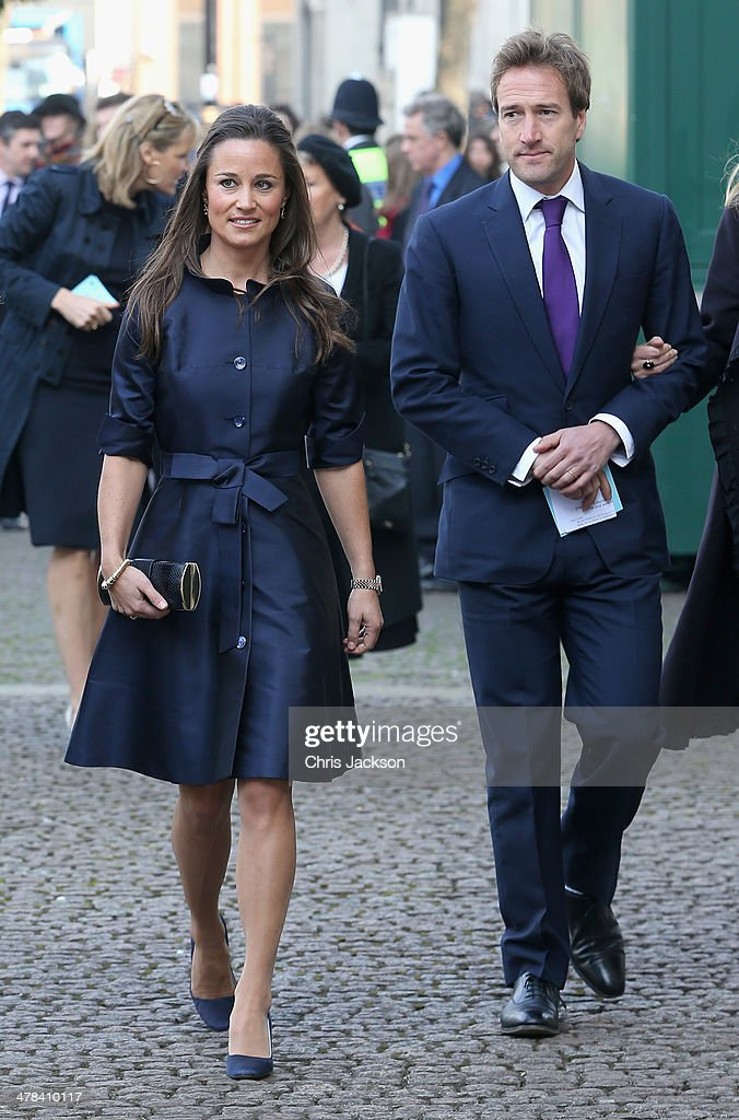 <a gi-track='captionPersonalityLinkClicked' href=/galleries/search?phrase=Pippa+Middleton&family=editorial&specificpeople=4289296 ng-click='$event.stopPropagation()'>Pippa Middleton</a> and <a gi-track='captionPersonalityLinkClicked' href=/galleries/search?phrase=Ben+Fogle&family=editorial&specificpeople=216039 ng-click='$event.stopPropagation()'>Ben Fogle</a> attends a memorial service for Sir David Frost at Westminster Abbey on March 13, 2014 in London, England.
