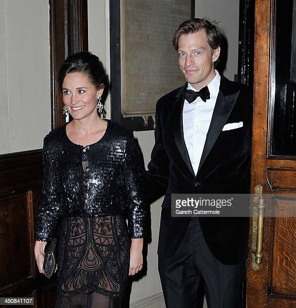 Pippa Middleton and boyfriend Nico Jackson attend the Sugarplum Ball at One Mayfair on November 20 2013 in London England