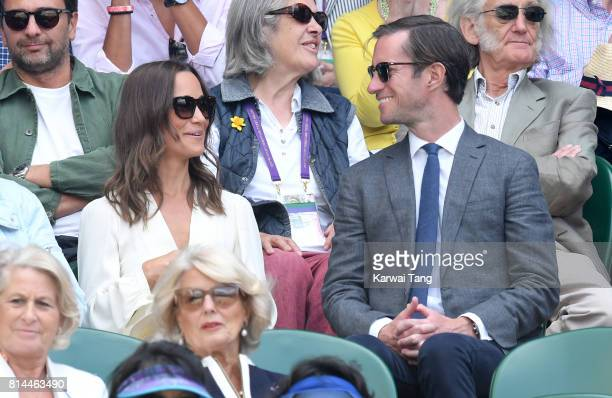 Pippa Middleton and James Matthews attend day 11 of Wimbledon 2017 on July 14 2017 in London England