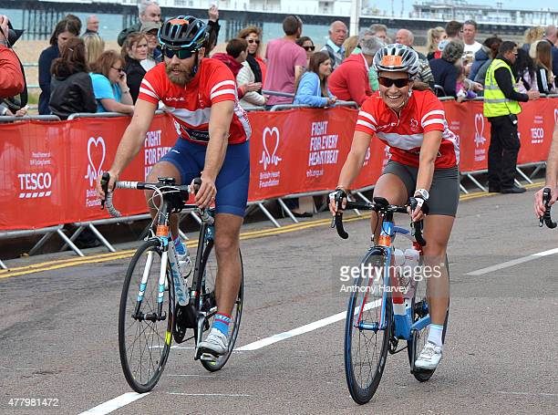 Pippa Middleton and James Middleton Finish the London To Brighton Bike Ride For British Heart Foundation on June 21 2015 in Brighton England