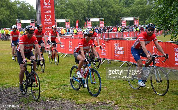 Pippa Middleton and James Middleton start the London to Brighton Bike Ride with the British Heart Foundation Team at Clapham Common on June 21 2015...