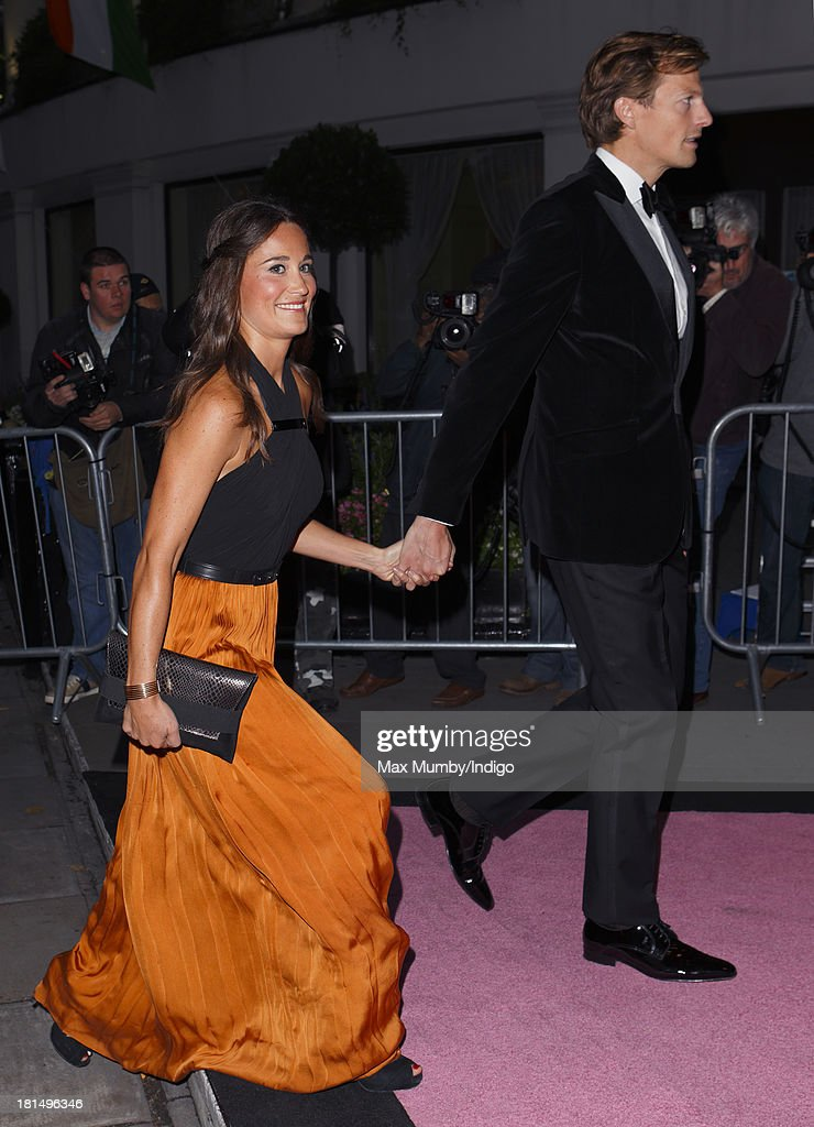 Pippa Middleton and Nico Jackson attend the Boodles Boxing Ball at the Grosvenor House Hotel on September 21, 2013 in London, England.