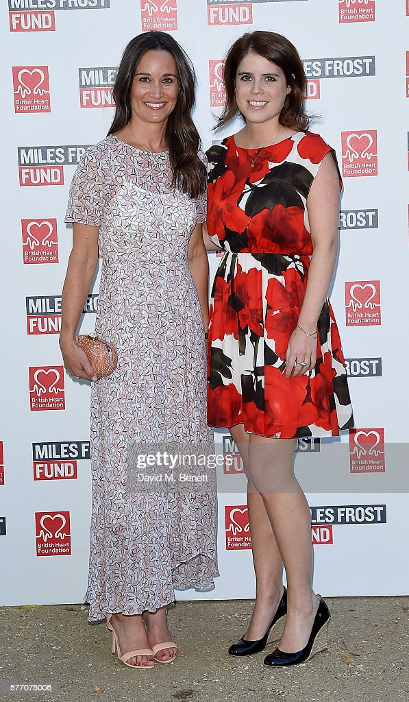 Pippa Middleton and Princess Eugenie attend The Frost family final Summer Party to raise money for the Miles Frost Fund in partnership with the British Heart Foundation on July 18, 2016 in London, England.