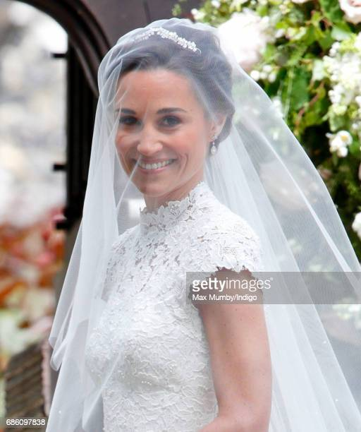 Pippa Middleton arrives at St Mark's Church for her wedding on May 20 2017 in Englefield Green England