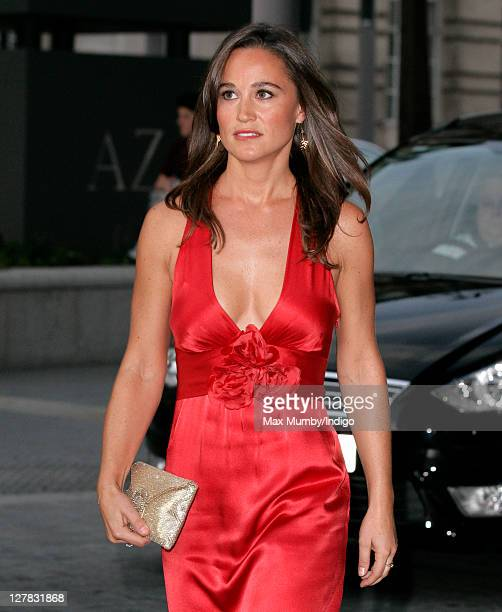 Pippa Middleton arrives for the Boodles Boxing Ball at Park Plaza Westminster Bridge Hotel on October 1 2011 in London England