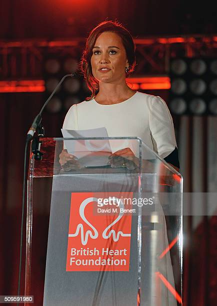 Pippa Middleton attends a drinks reception during the British Heart Foundation Roll Out The Red Ball at The Savoy Hotel on February 11 2016 in London...