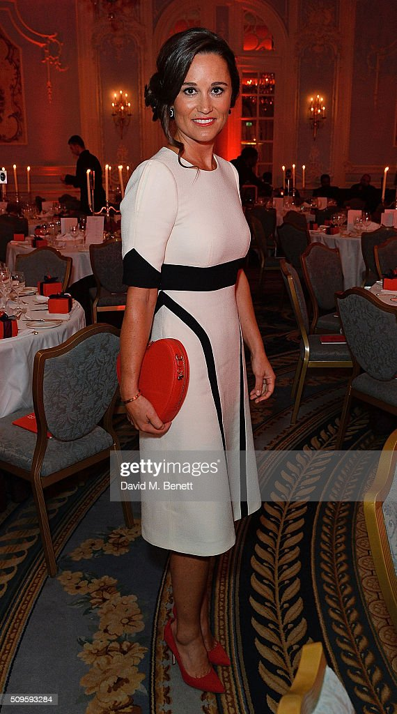 <a gi-track='captionPersonalityLinkClicked' href=/galleries/search?phrase=Pippa+Middleton&family=editorial&specificpeople=4289296 ng-click='$event.stopPropagation()'>Pippa Middleton</a> attends a drinks reception during the British Heart Foundation: Roll Out The Red Ball at The Savoy Hotel on February 11, 2016 in London, England.
