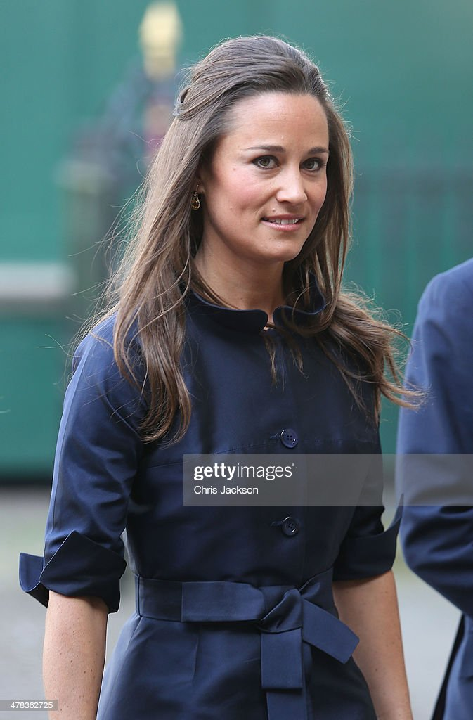 Pippa Middleton attends a memorial service for Sir David Frost at Westminster Abbey on March 13, 2014 in London, England.