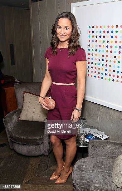 Pippa Middleton attends as Spectator Life magazine celebrates its third birthday at the Belgraves Hotel on March 31 2015 in London England