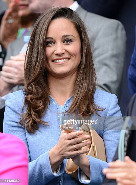 Pippa Middleton attends Day 1 of the Wimbledon 2013 tennis championships at Wimbledon on June 24 2013 in London England