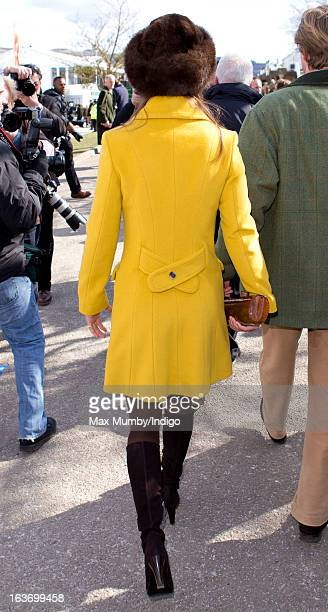 Pippa Middleton attends Day 3 of The Cheltenham Festival at Cheltenham Racecourse on March 14 2013 in London England
