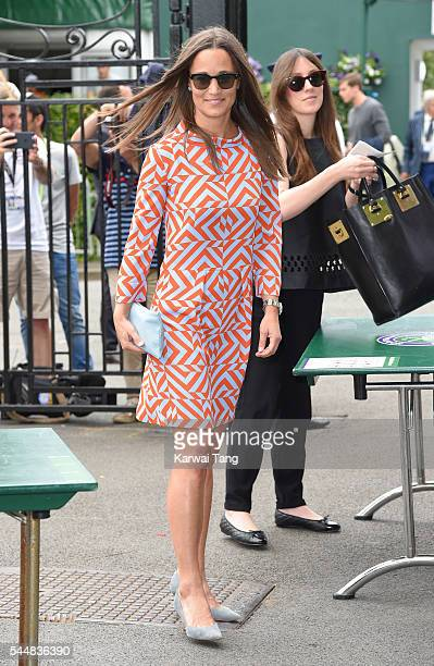 Pippa Middleton attends day eight of the Wimbledon Tennis Championships at Wimbledon on July 04 2016 in London England