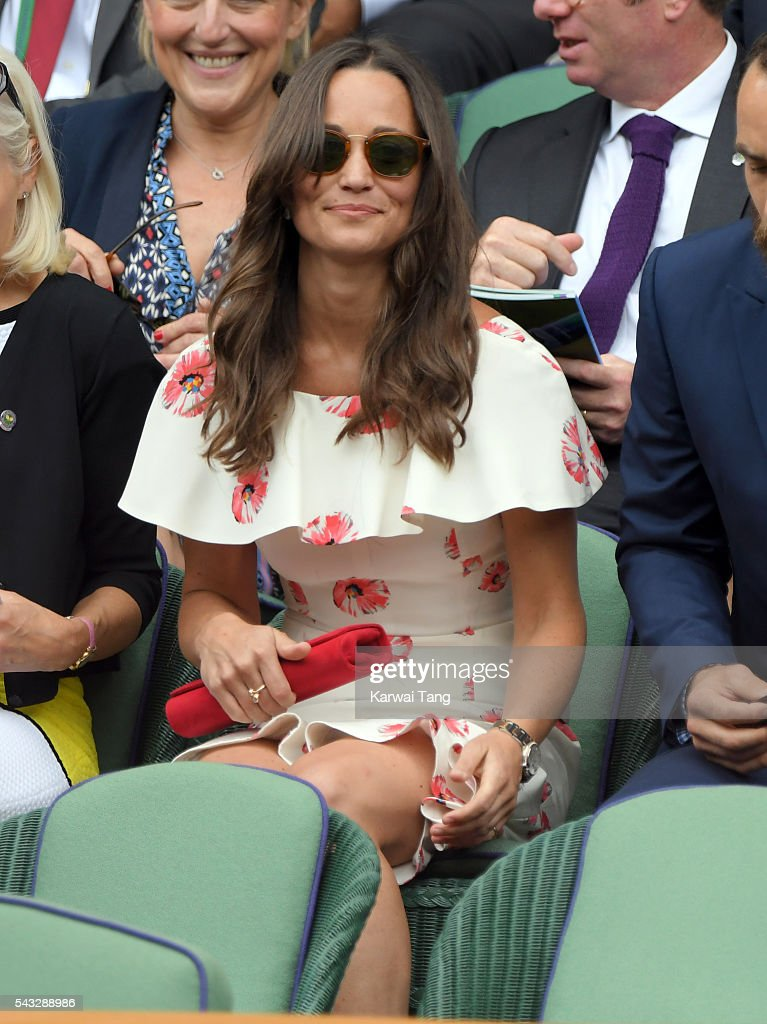 <a gi-track='captionPersonalityLinkClicked' href=/galleries/search?phrase=Pippa+Middleton&family=editorial&specificpeople=4289296 ng-click='$event.stopPropagation()'>Pippa Middleton</a> attends day one of the Wimbledon Tennis Championships at Wimbledon on June 27, 2016 in London, England.