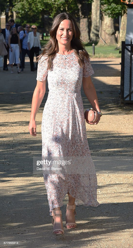 Pippa Middleton attends The Frost family final Summer Party to raise money for the Miles Frost Fund in partnership with the British Heart Foundation on July 18, 2016 in London, England.