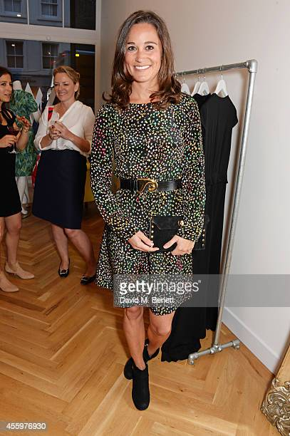 Pippa Middleton attends the launch of designer and entrepreneur Tabitha Webb's first retail store 'Tabitha Webb' on Elizabeth St Belgravia on...
