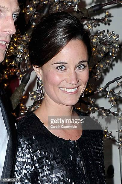 Pippa Middleton attends the Sugarplum Ball at One Mayfair on November 20 2013 in London England