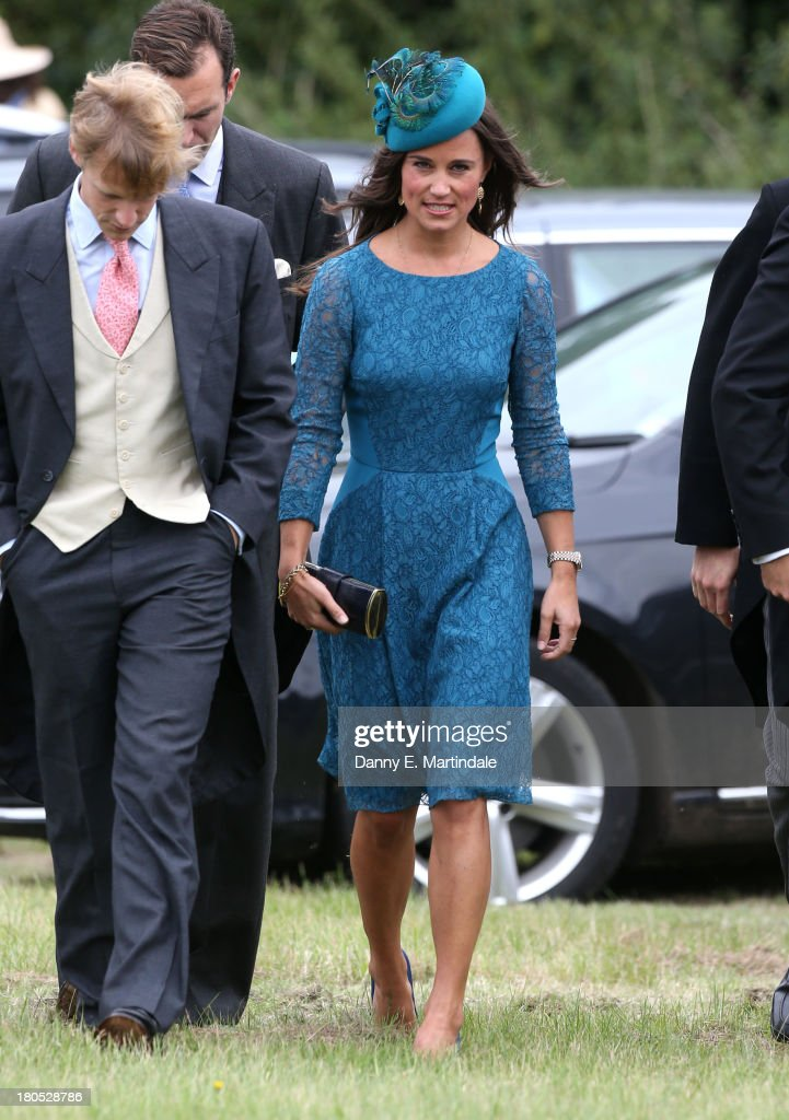 <a gi-track='captionPersonalityLinkClicked' href=/galleries/search?phrase=Pippa+Middleton&family=editorial&specificpeople=4289296 ng-click='$event.stopPropagation()'>Pippa Middleton</a> attends the wedding of James Meade and Lady Laura Marsham at The Parish Church of St. Nicholas in Gaytonon September 14, 2013 in King's Lynn, England.