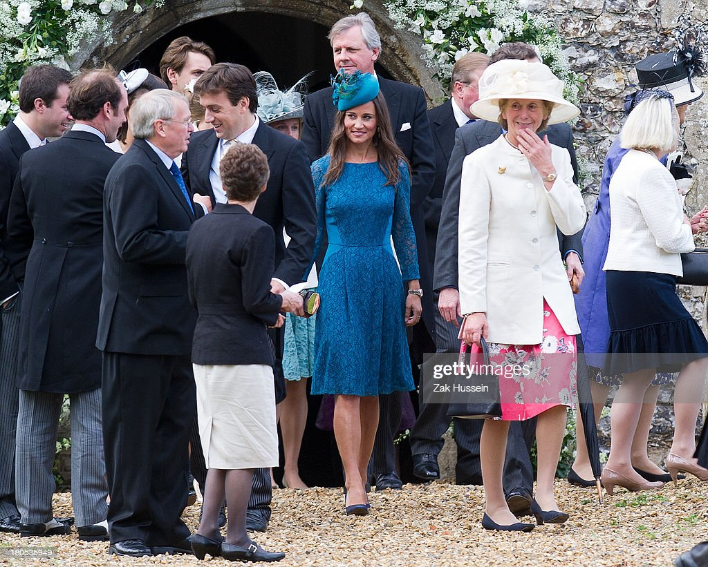 <a gi-track='captionPersonalityLinkClicked' href=/galleries/search?phrase=Pippa+Middleton&family=editorial&specificpeople=4289296 ng-click='$event.stopPropagation()'>Pippa Middleton</a> attends the wedding of James Meade And Lady Laura Marsham at Gayton Hall on September 14, 2013 in King's Lynn, England.