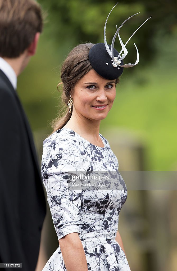 <a gi-track='captionPersonalityLinkClicked' href=/galleries/search?phrase=Pippa+Middleton&family=editorial&specificpeople=4289296 ng-click='$event.stopPropagation()'>Pippa Middleton</a> attends the wedding of Lady Melissa Percy and Thomas Van Straubenzee at St Michael's Church on June 22, 2013 in Alnwick, England.