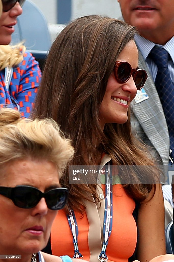 Pippa Middleton attends the women's singles quarterfinals match between Samantha Stosur of Australia and Victoria Azarenka of Belarus on Day Nine of the 2012 US Open at USTA Billie Jean King National Tennis Center on September 4, 2012 in the Flushing neighborhood of the Queens borough of New York City.