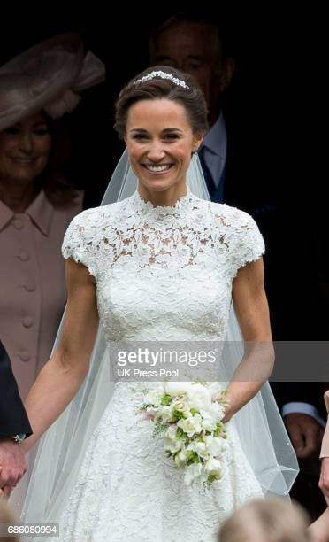 Pippa Middleton before her wedding to James Matthews at St Mark's Church on May 20 2017 in Englefield Green England