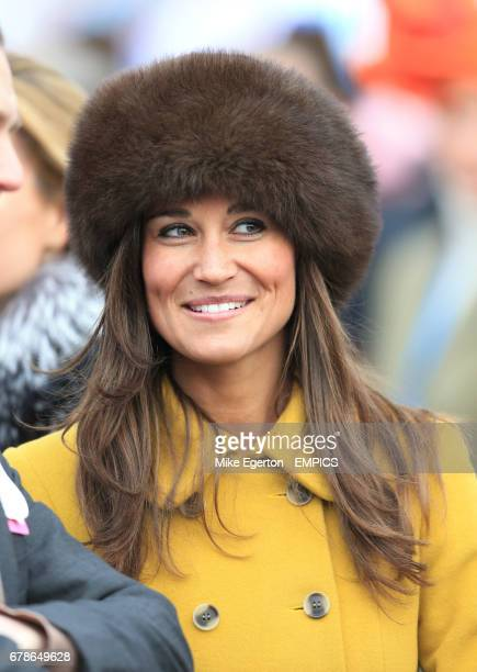 Pippa Middleton in the parade ring during St Patrick's Thursday during Cheltenham Festival