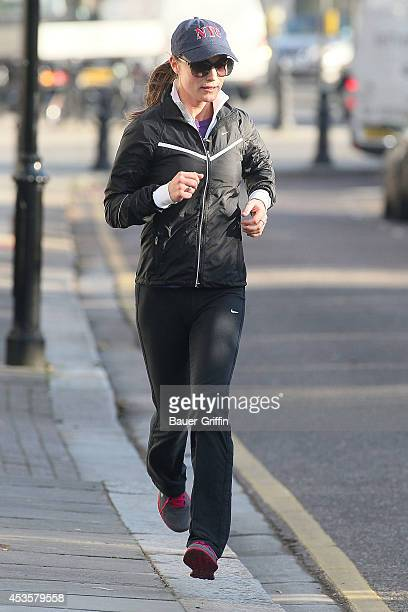 Pippa Middleton is seen jogging on November 30 2012 in London United Kingdom