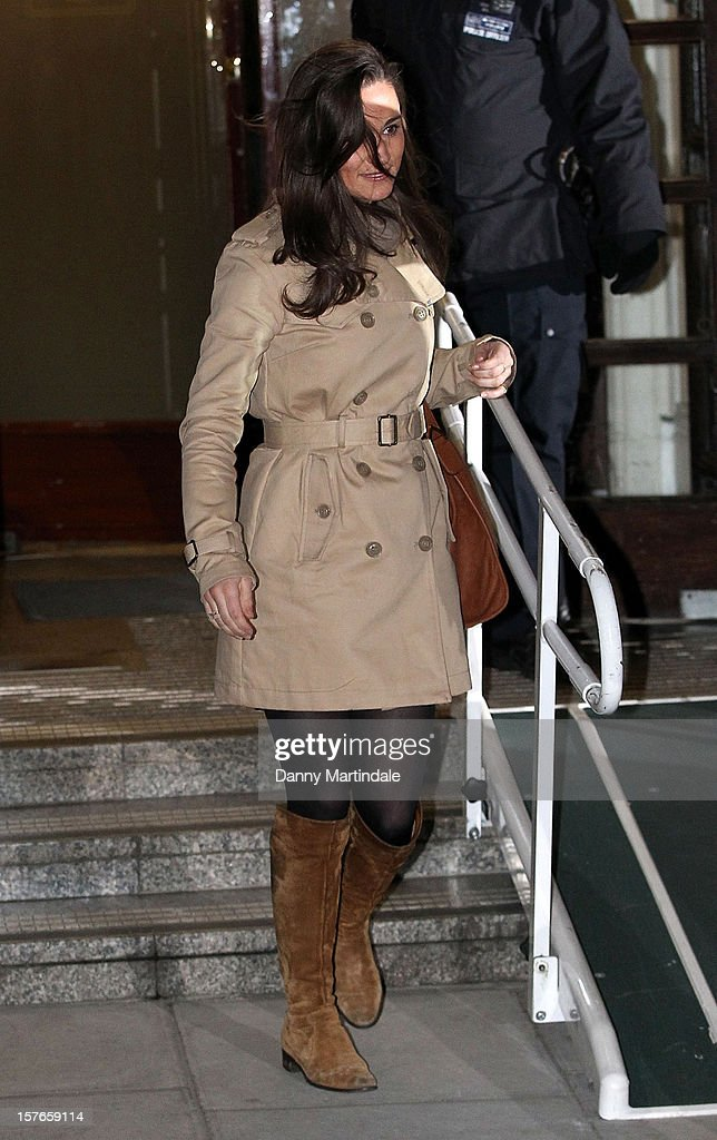 Pippa Middleton is seen leaving the King Edward VII Hospital on December 5, 2012 in London, England.