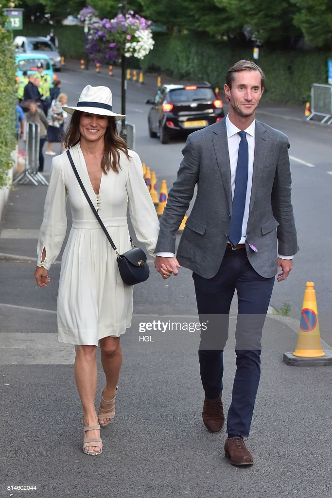Celebrity Sightings at Wimbledon - Day 11 -  July 14, 2017