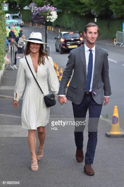 Pippa Middleton James Matthews seen at Day 11 of Wimbledon 2017 on July 14 2017 in London England