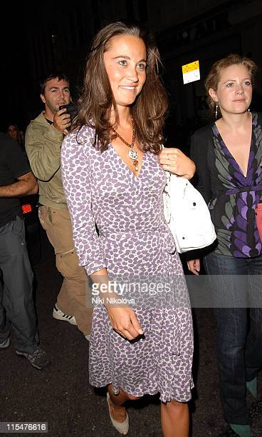 Pippa Middleton leaving The Mahiki Club on July 12 2007 in London England