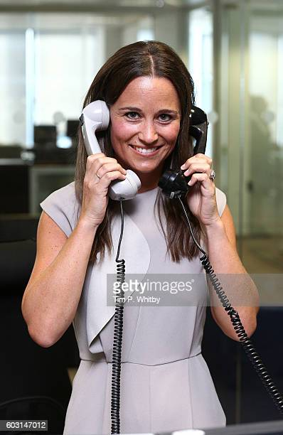 Pippa Middleton making a trade at BGC Annual Global Charity Day at Canary Wharf on September 12 2016 in London England