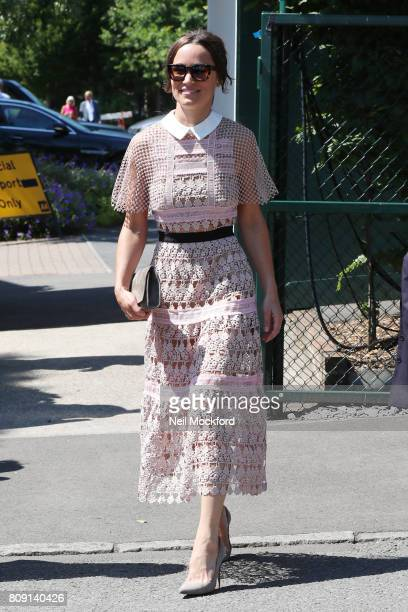 Pippa Middleton seen arriving at Day 3 of Wimbledon 2017 on July 5 2017 in London England