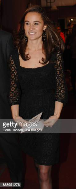 Pippa Middleton sister of Kate Middleton attending Time To Reflectan exhibition of limited edition photgraphs of celebrities by Alistair Morrison at...