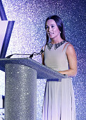 Pippa Middleton speaks on stage at the Disability Snowsport UK ParaSnowBall 2016 sponsored by Crystal Ski Holidays and Salomon at The Hurlingham Club...