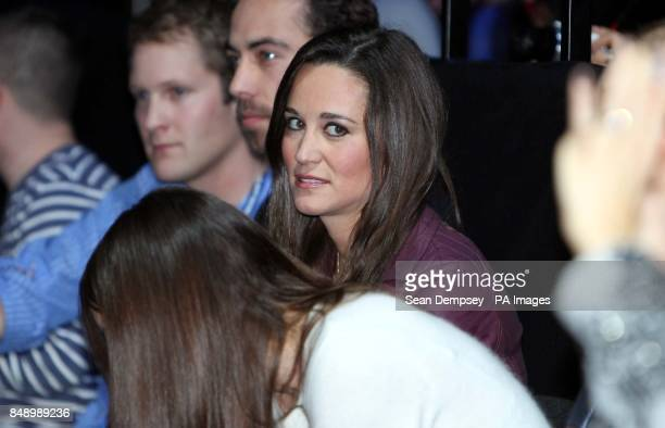 Pippa Middleton watches the action during the Barclays ATP World Tour Finals at the O2 Arena London