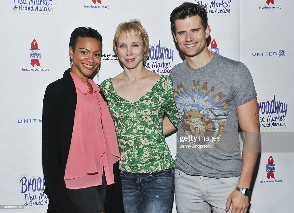 'Pippin' stars Carly Hughes Charlotte d'Amboise and Kyle Dean Massey attend the 28th Annual Broadway Flea Market Grand Auction at Booth Theatre on...