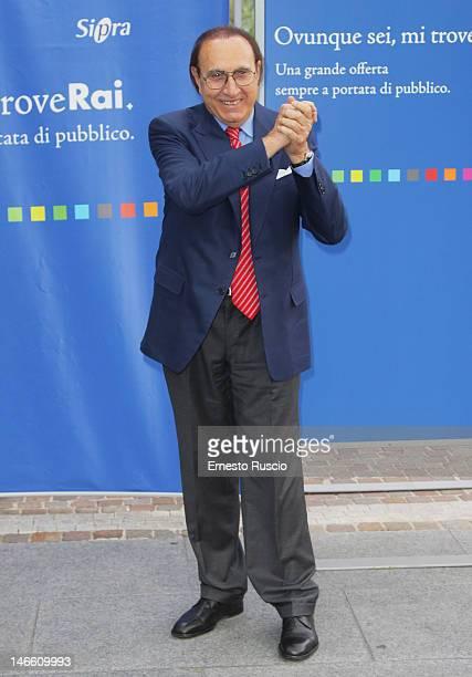 Pippo Baudo attends the Palinsesti Rai photocall at Cavalieri Hilton Hotel on June 20 2012 in Rome Italy