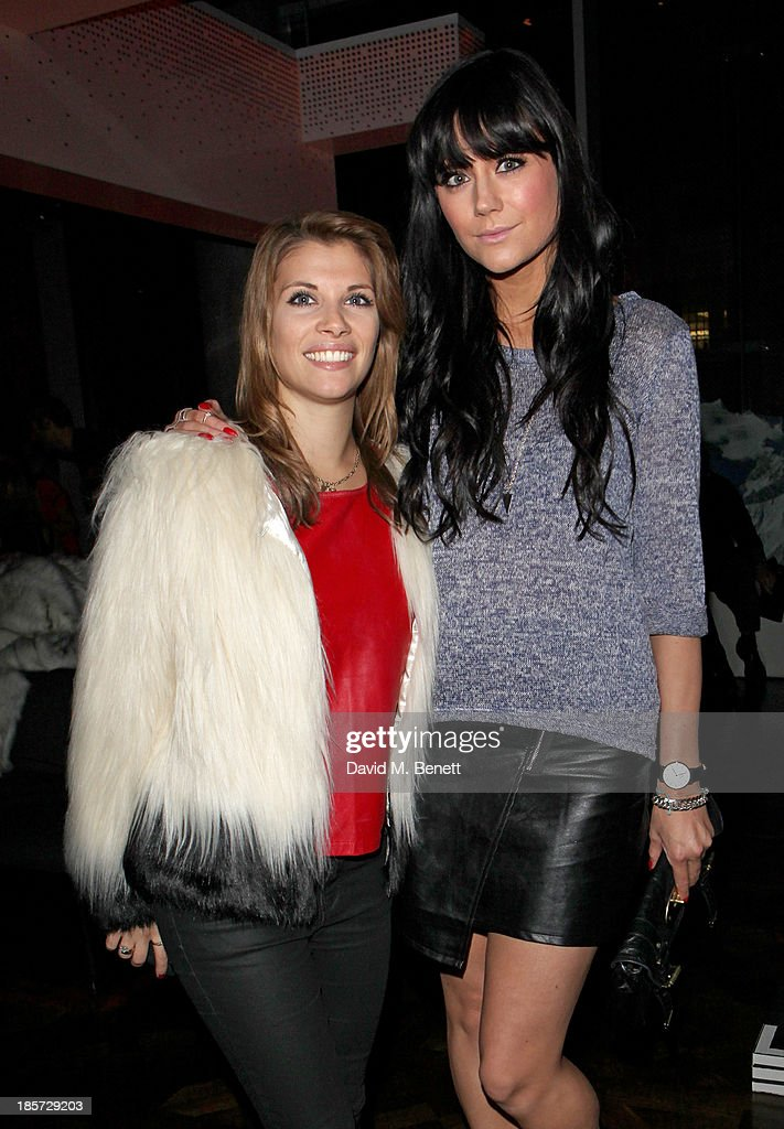 Pips Taylor (L) and Lilah Parson attend the launch of the W Republic of Verbier takeover at W London - Leicester Square on October 24, 2013 in London, England.