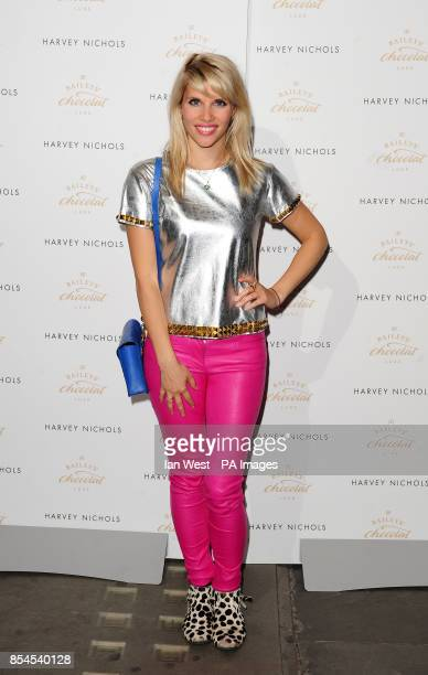 Pips Taylor attending the Baileys Feaster Egg Hunt at Harvey Nichols in London